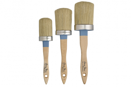 gallery/chalk paint brushes line up white background